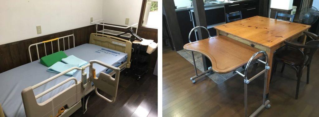 長野県白馬バリアフリーコテージBRAZE-CLUB 介護ベット・テーブルのお写真