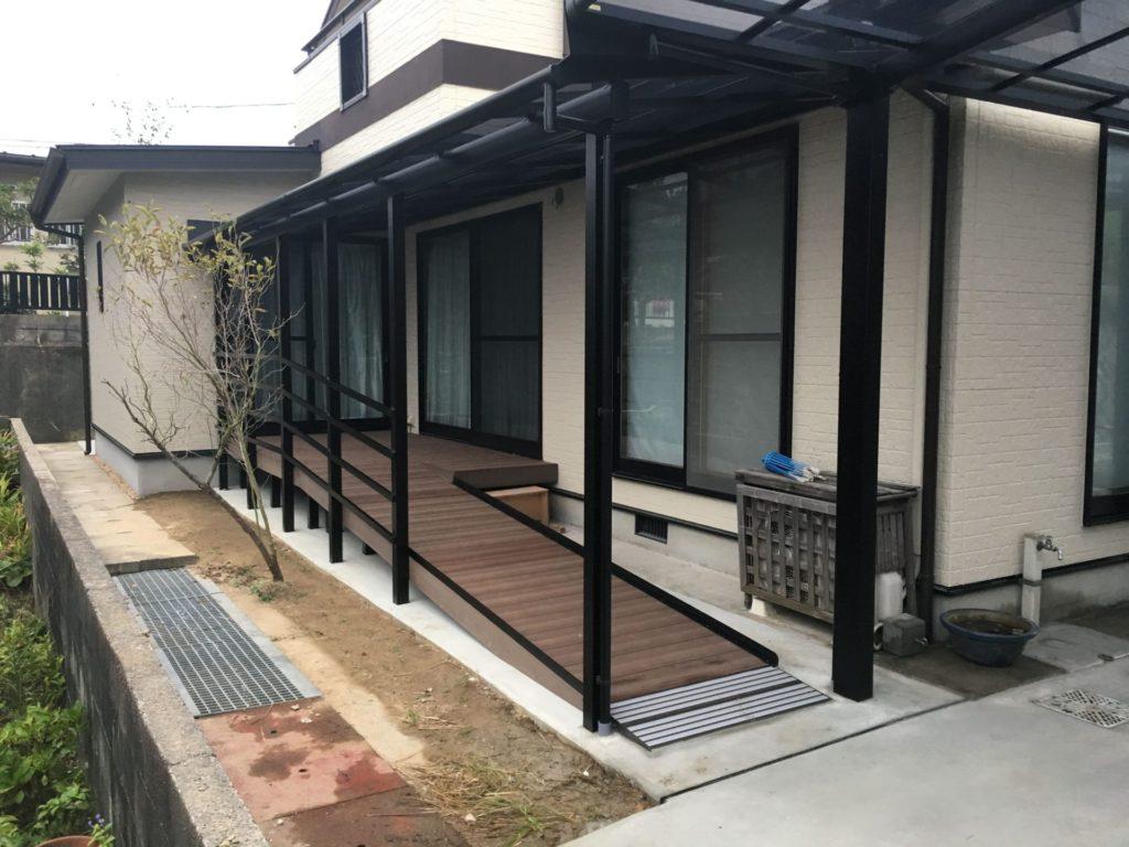 増築+屋根付きスロープ設置事例