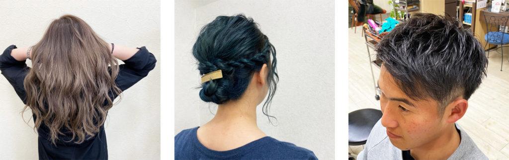 車椅子でも入れる美容室奈良県Oz-Rootsヘアーカタログ