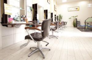 車椅子でも入れる美容室奈良県Oz-Roots施術スペース